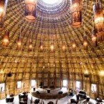 Grandiosa Cúpula de Bambú construida sin usar un solo clavo