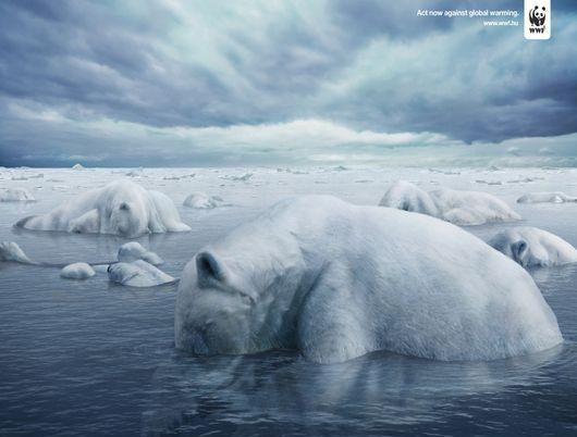 Publicidad con mensaje y tema Ambientalista