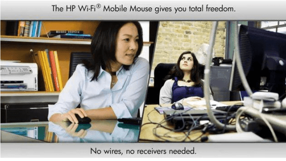 El HP Wi-Fi Mobile Mouse