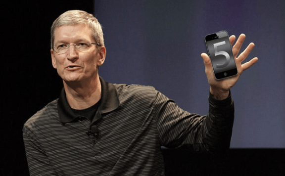 Tim_cook y iPhone 5