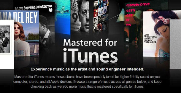 "Apple: Lanza su nueva sección musical ""Mastered for iTunes"" en iTunes Store"