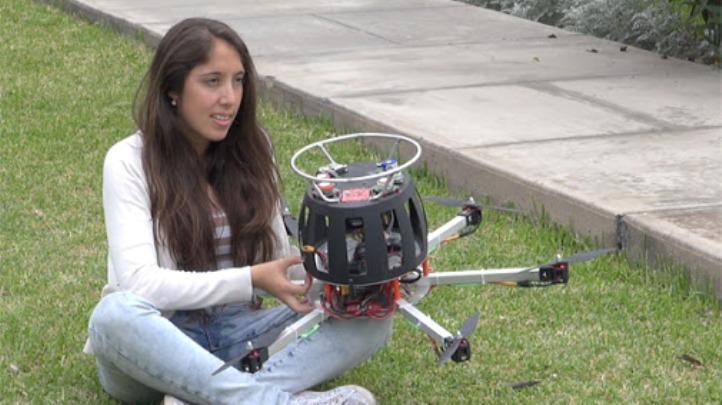 dron que detecta contaminación del aire