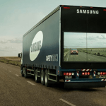 Samsung lanza sus camiones 'transparentes' para facilitar a los choferes su visibilidad en las carreteras