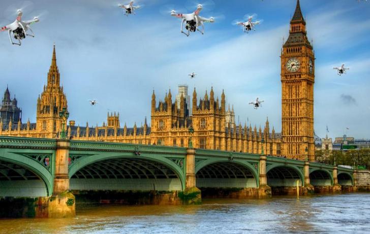 Policía londinense tendría planeado usar drones para perseguir ladrones motorizados