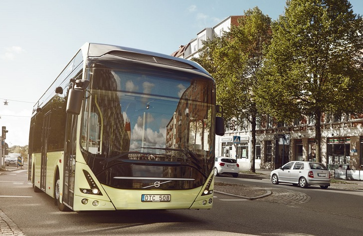 Volvo presenta bus eléctrico híbrido en Brasil