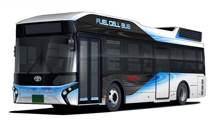 Autobús olímpico de Toyota que funciona con hidrógeno