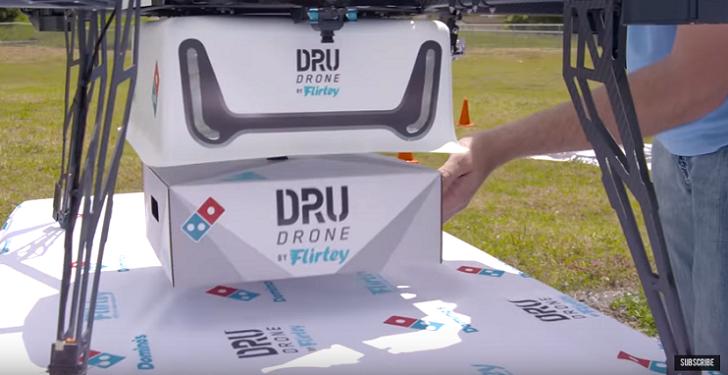 Domino's Pizza empieza a repartir sus pizzas mediante el uso de drones