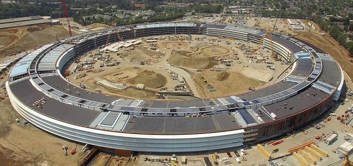 El nuevo campus de Apple meses antes de ser terminado