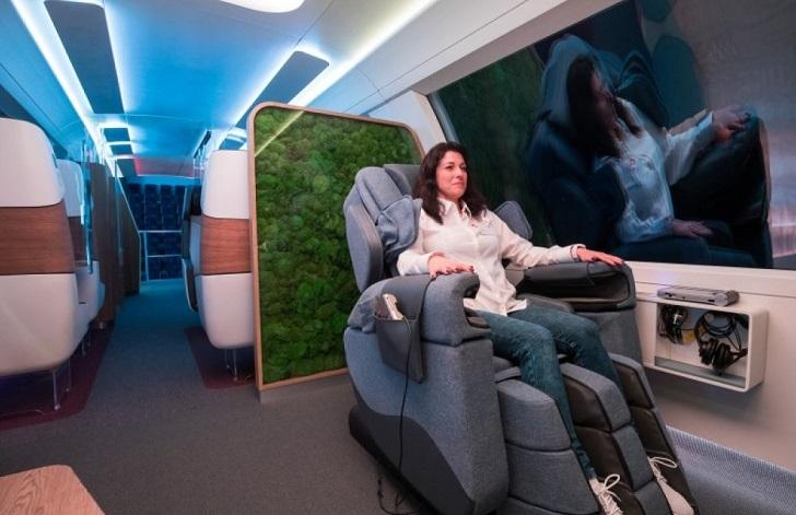 Los trenes del futuro gozarán de gimnasios y sala de videojuegos