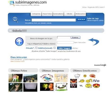 Subir Imagenes tu Blog o Web Site