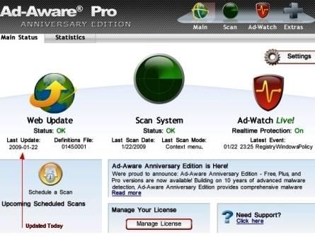 Ad-Aware: Un buen Programa  Gratuito Antiespía