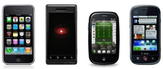 Tabla Comparativa de los Mejores Smartphones del  2009