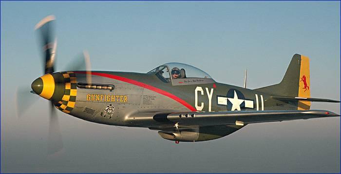 El Avión Caza P-51 Mustang