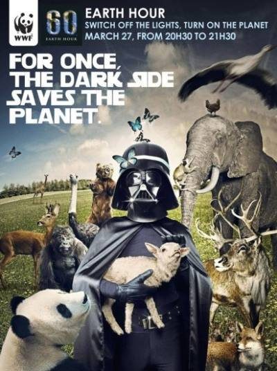 Imagen de Dark Vader impulsa la Hora del Planeta