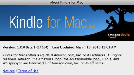 Amazon lanzo su Aplicación Kindle para Mac