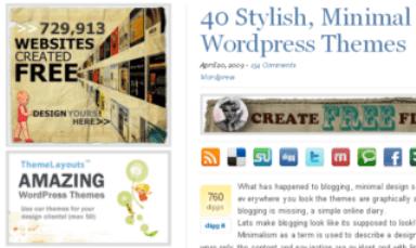40 Temas Elegantes, Minimalistas y Limpios para usar en WordPress