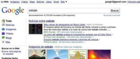 Google Cambia el Aspecto de su Buscador