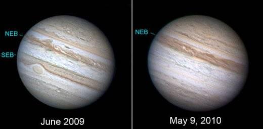 Fotos muestran la Desaparición de un cinturón en el planeta Júpiter