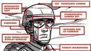Modernos Lentes para personal Militar que interpreta la Información real mostrada