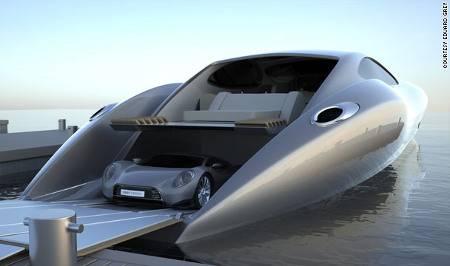 Un Super Yate de US $ 25 millones con un Supercarro de cortesía