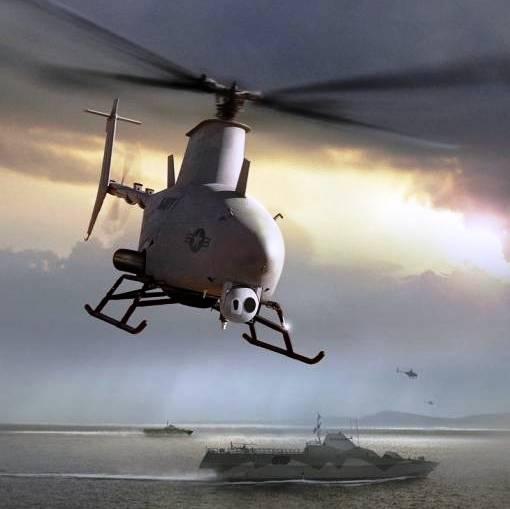 El RQ-8B VTOL, moderno vehículo Aéreo no tripulado de la Fuerza Armada de los EE.UU.