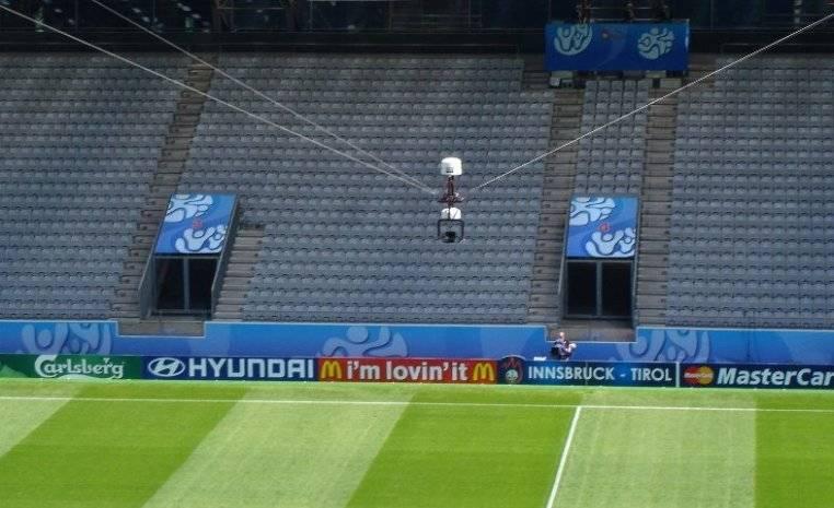 SpiderCam, la cámara del Mundial de Futbol para tomas televisivas increíble
