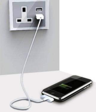 Puertos USB incorporados en las tomas de corriente electrica