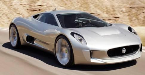 El Jaguar C-X75, un prototipo de auto con propulsión híbrido-eléctrico