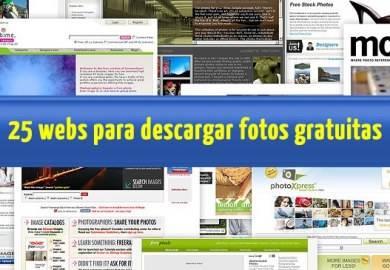 25 webs para descargar fotos de archivo de manera gratuita para tus proyectos