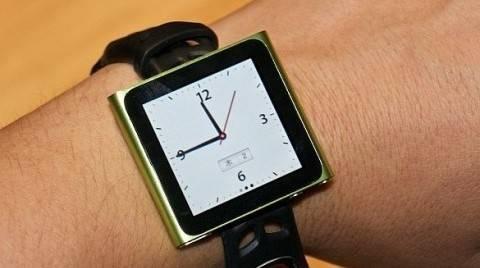 Usando el  iPod Nano como reloj de pulsera