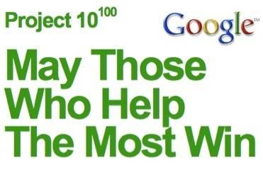 Los Ganadores del proyecto 10^100 de Google