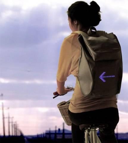 Mochila con mensaje para ciclistas
