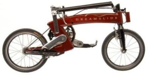 Dreamslide, una novedosa bicicleta sin asiento