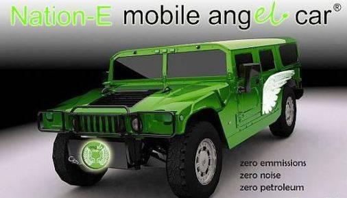 La Hummer eléctrica Nación-E H1 sirve también como fuente de energía móvil