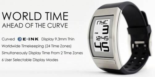 Phosphor World Time, un moderno reloj e-ink con 24 zonas horarias