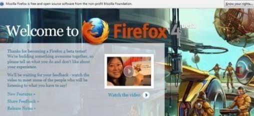 Mozilla lanza Firefox 4.0 versión beta 7