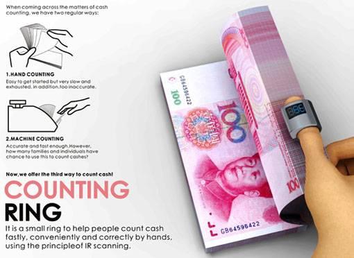 Counting Ring: Un novedoso Anillo que sirve para contar dinero