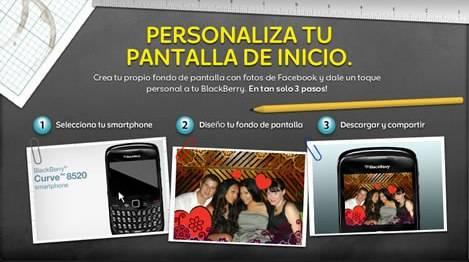 Aplicación Blackberry para crear tu propio fondo