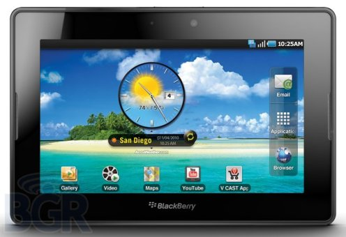 Blackberry PlayBook podría ejecutar aplicaciones de Android