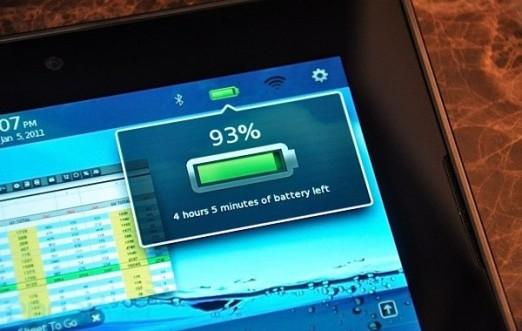 Batería del PlayBook será igual o superior a la del iPad