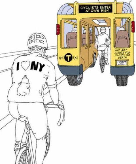 El taxi que todo ciclista espera ver en la carretera
