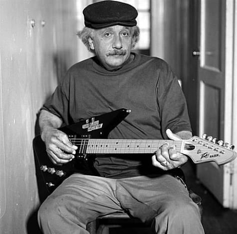 Einstein fue un fanático de la guitarra eléctrica