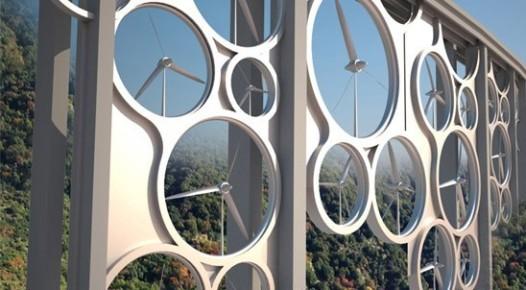 Diseñadores italianos crean un puente concepto generador de energía eólica y solar