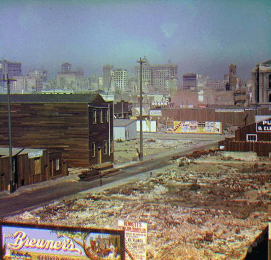 El terremoto de 1906 de San Francisco con fotos a color y en 3D