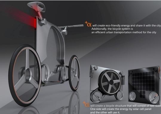 + Alpha: Original bicicleta concepto que funciona con energía solar