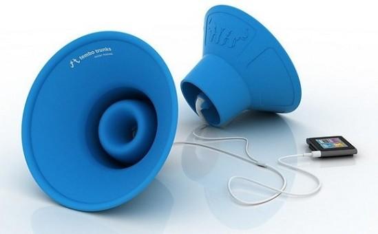 Tembo Trunks, amplificadores fabricados en silicona que no requieren fuente de alimentación