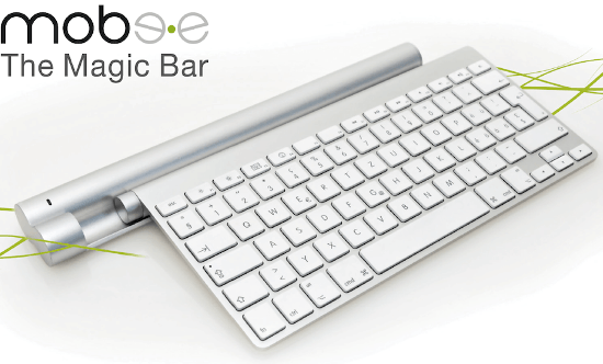 Magic Bar de Mobee: Recarga el teclado inalámbrico y trackpads de Apple