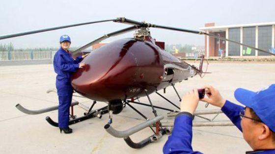 Helicóptero V750: El mayor helicóptero chino no tripulado
