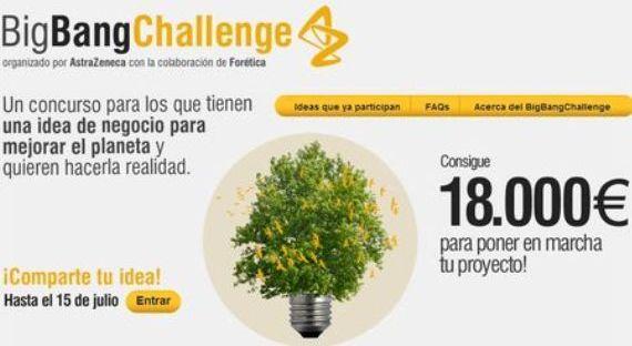 Big Bang Challenge: Premio a la mejor idea para salvar el planeta