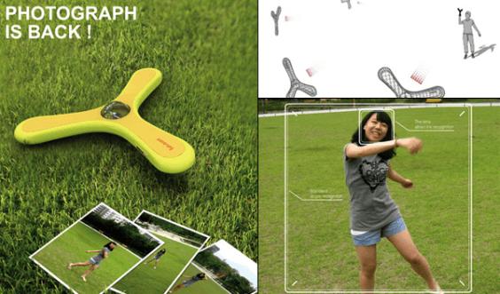 Camerang: Una cámara fotográfica en forma de boomerang